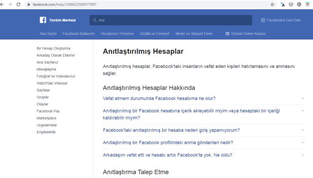 facebook anıt hesap ölen insanların sosyal medya hesaplarına ne olur